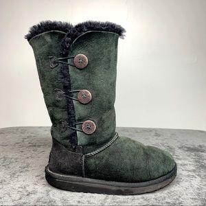 UGG Bailey Button Boots Black Girls 3